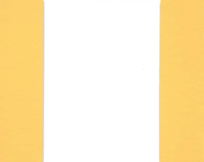 Pack of (5) 8x10 Acid Free White Core Picture Mats cut for 5x7 Pictures in Yellow