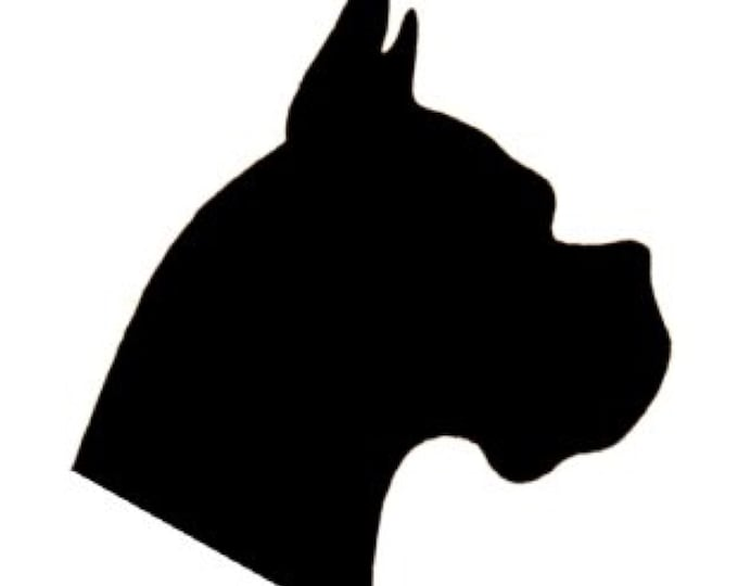 Boxer Dog Stencil Made from 4 Ply Mat Board-Choose a Size-From 5x7 to 24x36