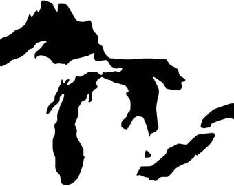 Pack of 3 Great Lakes Stencils Made from 4 Ply Mat Board, 11x14, 8x10 and 5x7 -Package includes One of Each Size