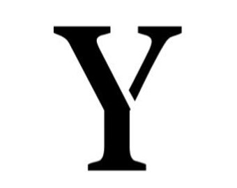 Letter Y Stencil Made from 4 Ply Mat Board-Stardos Font