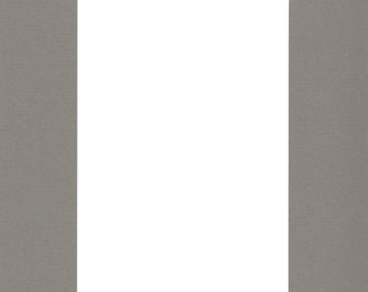 Pack of (2) 24x36 Acid Free White Core Picture Mats cut for 20x30 Pictures in Sage Green