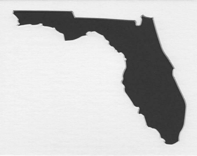 Pack of 3 Square Florida State Stencils Made From 4 Ply Mat Board 12x12, 8x8 and 6x6 -Package includes One of Each Size