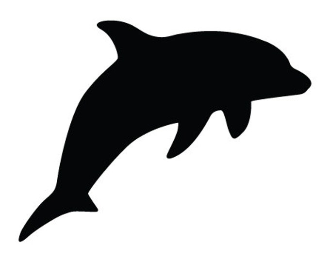 Dolphin Stencil Made from 4 Ply Mat Board