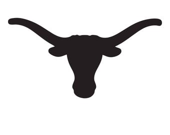 Texas Longhorn Stencil Made from 4 Ply Mat Board-Choose a Size-From 5x7 to 24x36