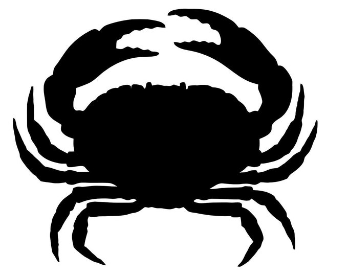 Pack of 3 Crab Outline Stencils,Made from 4 Ply Mat Board 16x20, 11x14 and 8x10 -Package includes One of Each Size