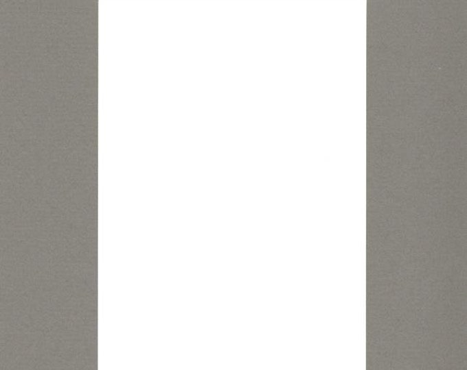 Pack of (2) 18x24 Acid Free White Core Picture Mats cut for 12x18 Pictures in Sage Green