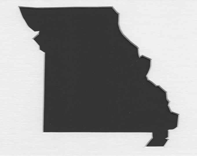Pack of 3 Square Missouri State Stencils Made From 4 Ply Mat Board 12x12, 8x8 and 6x6 -Package includes One of Each Size