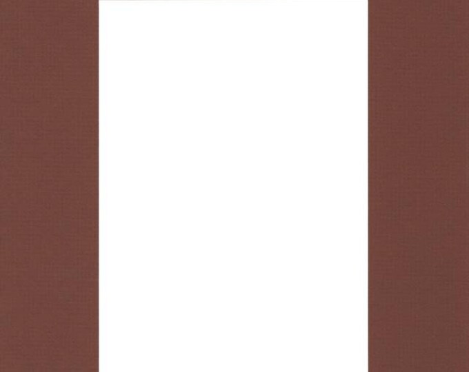 Pack of (2) 20x24 Acid Free White Core Picture Mats cut for 16x20 Pictures in Brown