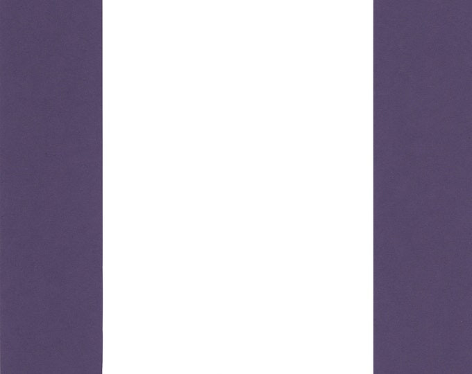 Pack of (2) 24x36 Acid Free White Core Picture Mats cut for 20x30 Pictures in Purple