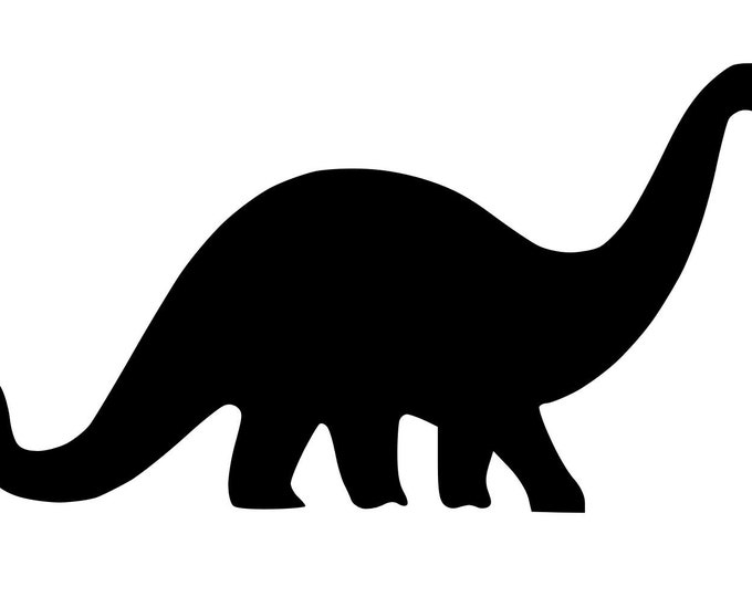Pack of 3 Brontosaurus Stencils Made from 4 Ply Mat Board, 11x14, 8x10 and 5x7 -Package includes One of Each Size