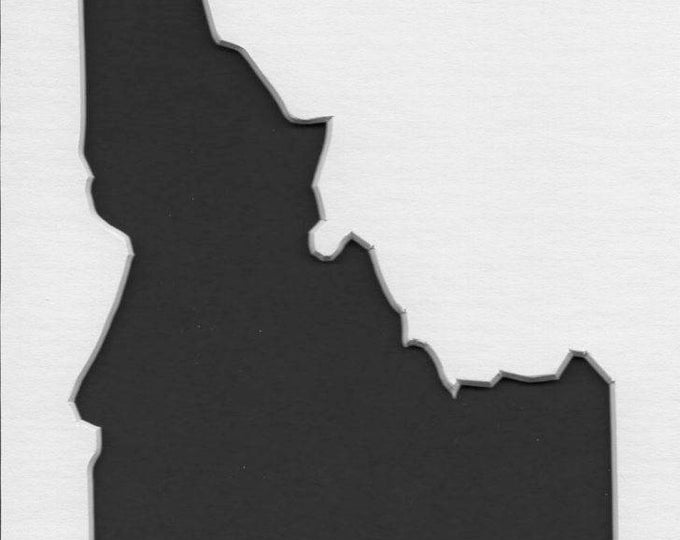 Pack of 3 Idaho State Stencils, Made from 4 Ply Mat Board 18x24, 16x20 and 11x14