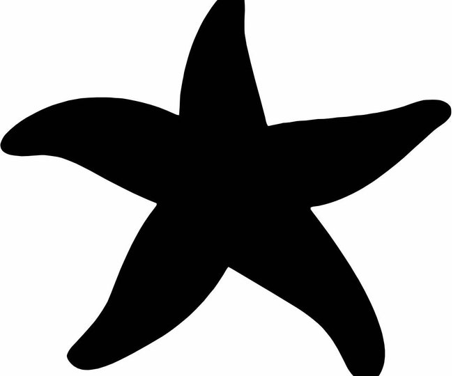 Pack of 3 Starfish Stencils Made From 4 Ply Mat Board 11x14, 8x10 and 5x7 -Package includes One of Each Size