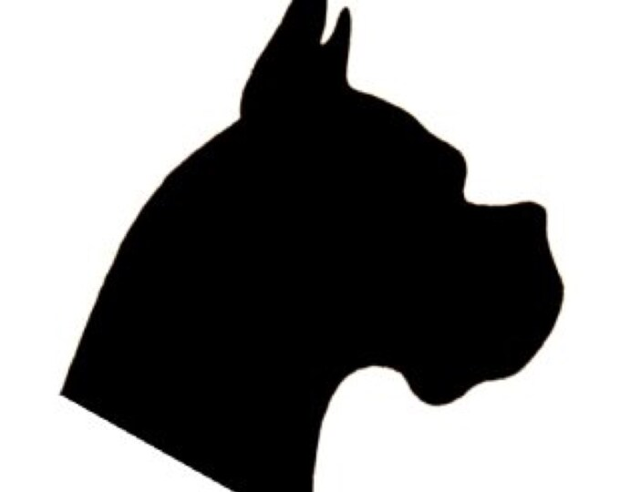 Pack of 3 Boxer Dog Stencils Made from 4 Ply Mat Board, 11x14, 8x10 and 5x7 -Package includes One of Each Size