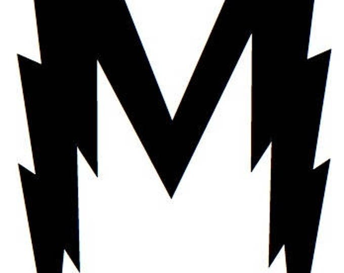 Letter M Stencil Made from 4 Ply Mat Board-Wizard Font