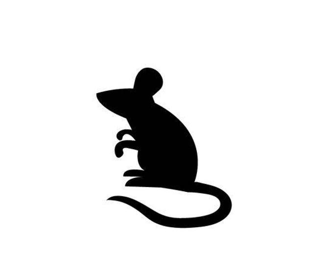 Pack of 3 Mouse Stencils Made from 4 Ply Mat Board 16x20, 11x14, 8x10 -Package includes One of Each Size