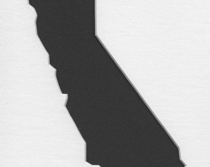 Pack of 3 California State Stencils,Made from 4 Ply Mat Board 16x20, 11x14 and 8x10 -Package includes One of Each Size