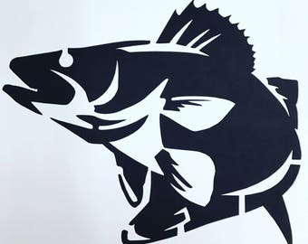 Walleye Fish Stencil Made from 4 Ply Mat Board-Choose a Size-From 5x7 to 24x36