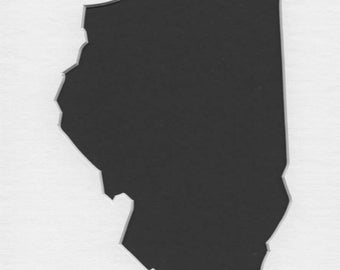 Pack of 3 Illinois State Stencils Made From 4 Ply Mat Board 11x14, 8x10 and 5x7 -Package includes One of Each Size