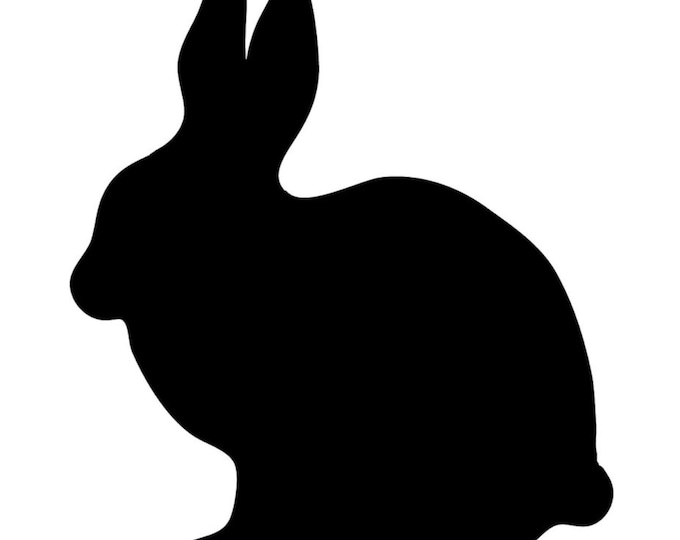 Rabbit Bunny Stencil Made from 4 Ply Mat Board-Choose a Size-From 5x7 to 24x36