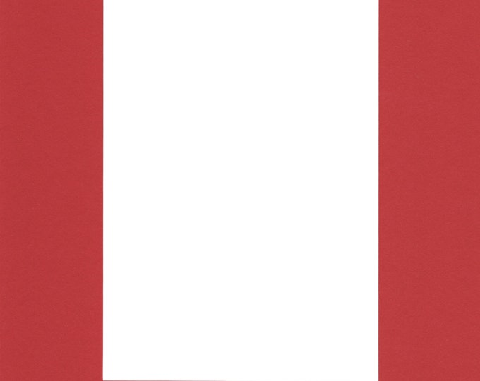 Pack of (2) 24x36 Acid Free White Core Picture Mats cut for 20x30 Pictures in Real Red