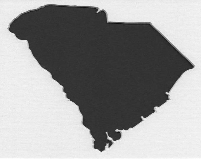 Pack of 3 South Carolina State Stencils,Made from 4 Ply Mat Board 16x20, 11x14 and 8x10 -Package includes One of Each Size