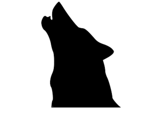 Howling Wolf Head Only Stencil Made from 4 Ply Mat Board-Choose a Size-From 5x7 to 24x36