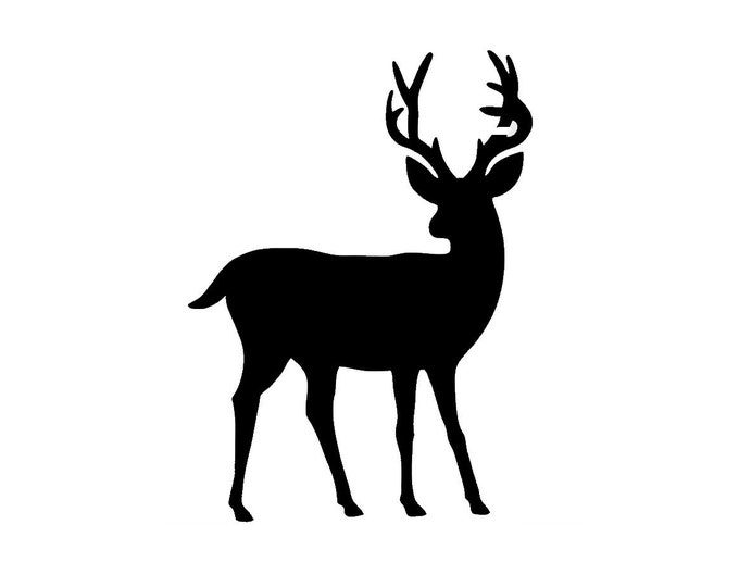 Pack of 3 Full Deer Stencils Made from 4 Ply Mat Board, 11x14, 8x10 and 5x7 -Package includes One of Each Size