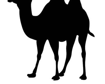 Pack of 3 Camel 2 Stencils Made from 4 Ply Mat Board, 11x14, 8x10 and 5x7 -Package includes One of Each Size