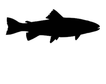 Pack of 3 Trout Stencils Made from 4 Ply Mat Board 16x20, 11x14, 8x10 -Package includes One of Each Size