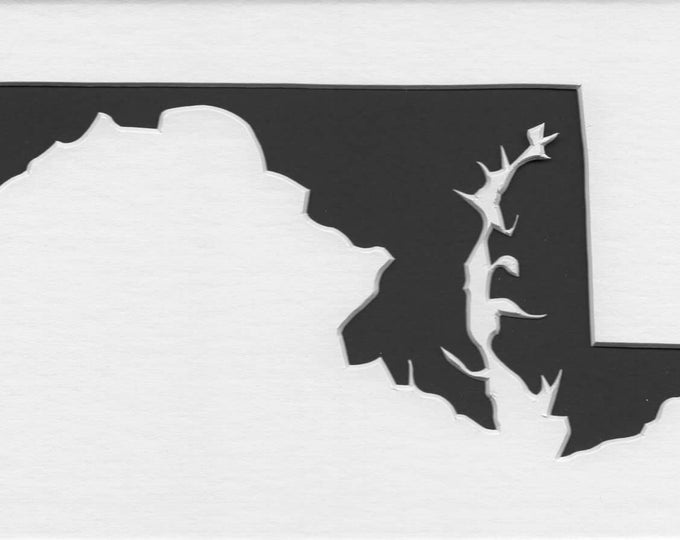 Pack of 3 Maryland State Stencils Made From 4 Ply Mat Board 11x14, 8x10 and 5x7 -Package includes One of Each Size