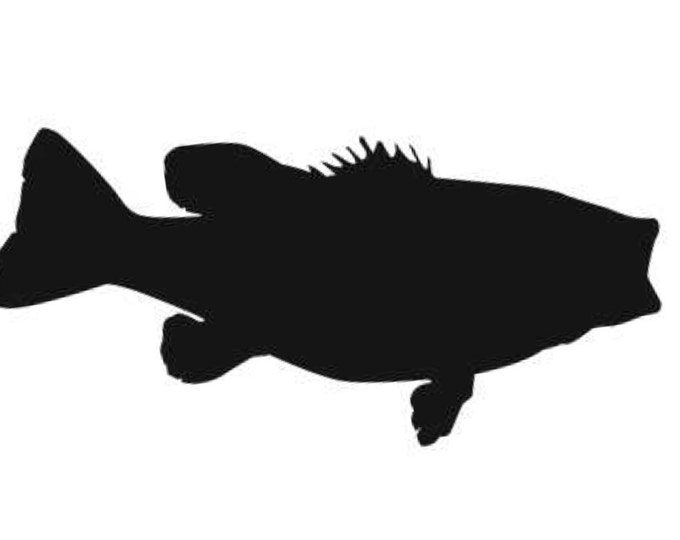 Largemouth Bass Stencil Made from 4 Ply Mat Board-Choose a Size-From 5x7 to 24x36