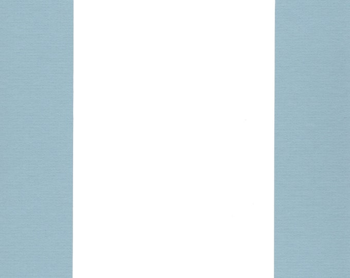 Pack of (2) 24x36 Acid Free White Core Picture Mats cut for 20x30 Pictures in Sheer Blue