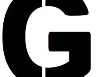 Letter G Stencil Made from 4 Ply Mat Board