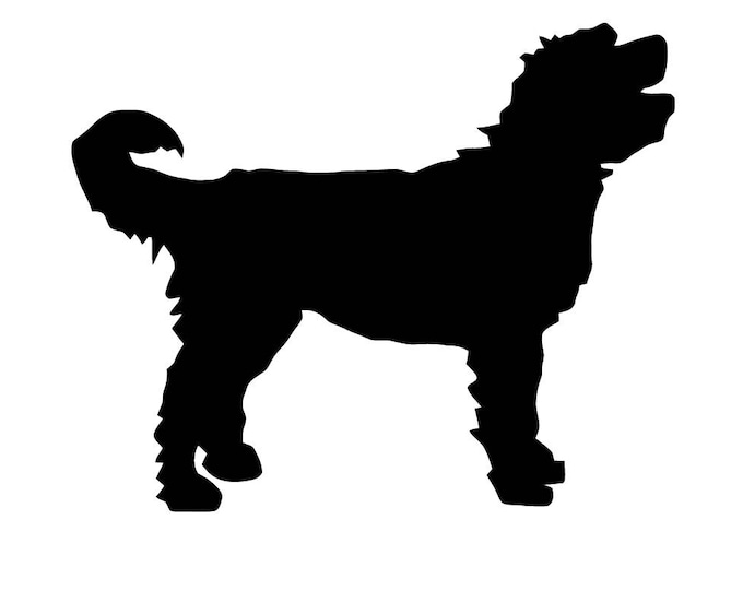 Pack of 3 Goldendoodle Stencils Made from 4 Ply Mat Board, 11x14, 8x10 and 5x7 -Package includes One of Each Size