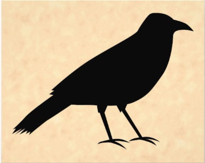 Primitive Crow Stencil Made from 4 Ply Mat Board-Choose a Size-From 5x7 to 24x36