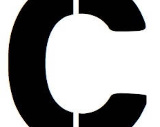 Letter C Stencil Made from 4 Ply Mat Board