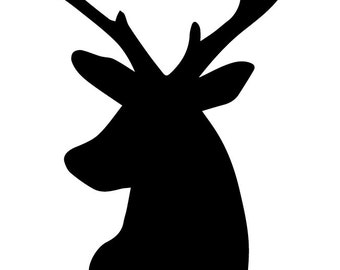 Pack of 3 Deer Stencils Made from 4 Ply Mat Board, 18x24, 16x20 and 11x14 -Package includes One of Each Size