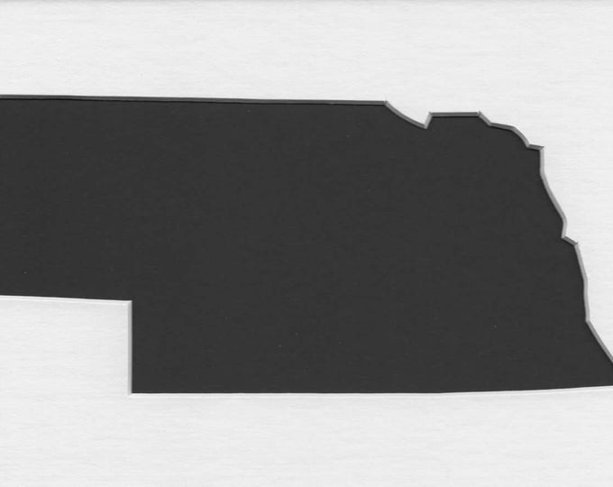 Nebraska State Stencil Made from 4 Ply Mat Board-Choose a Size-From 5x7 to 24x36
