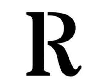 Letter R Stencil Made from 4 Ply Mat Board-Stardos Font