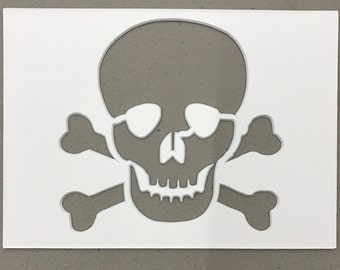 Skull and Crossbones Stencil Made from 4 Ply Mat Board