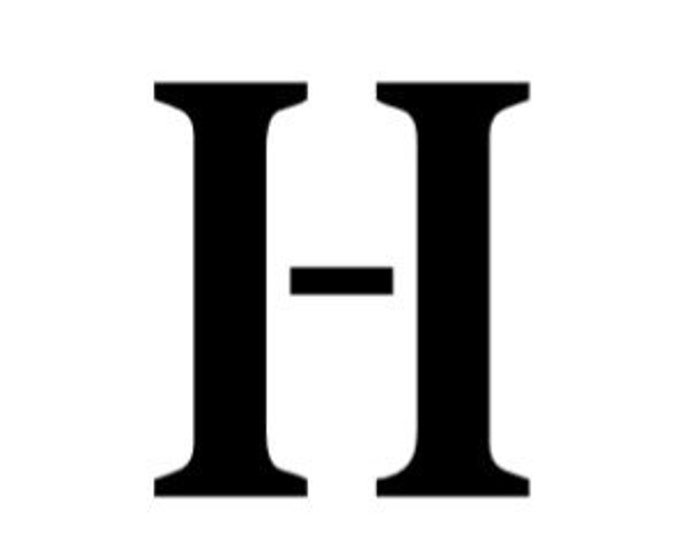 Letter H Stencil Made from 4 Ply Mat Board-Stardos Font