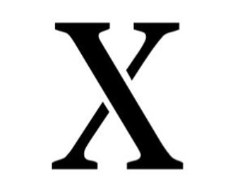 Letter X Stencil Made from 4 Ply Mat Board-Stardos Font