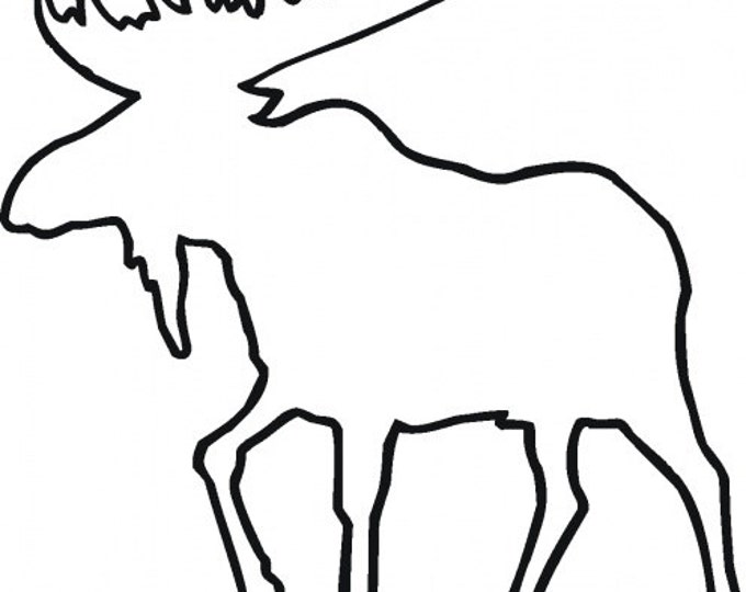 Pack of 3 Moose Stencils Made from 4 Ply Mat Board, 11x14, 8x10 and 5x7 -Package includes One of Each Size