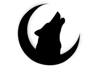 Pack of 3 Wolf on Moon Stencils Made from 4 Ply Mat Board, 11x14, 8x10 and 5x7 -Package includes One of Each Size
