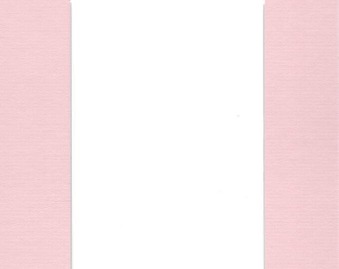 Pack of (5) 8x10 Acid Free White Core Picture Mats cut for 5x7 Pictures in Pink