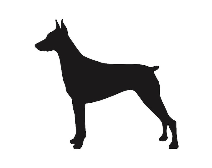 Pack of 3 Doberman Stencils Made from 4 Ply Mat Board, 11x14, 8x10 and 5x7 -Package includes One of Each Size