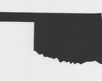 Pack of 3 Oklahoma State Stencils, Made from 4 Ply Mat Board 18x24, 16x20 and 11x14 -Package includes One of Each Size