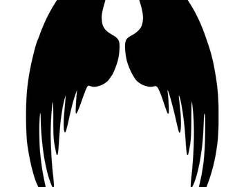 Pack of 3 Angel Wings Stencils Made from 4 Ply Mat Board, 11x14, 8x10 and 5x7 -Package includes One of Each Size