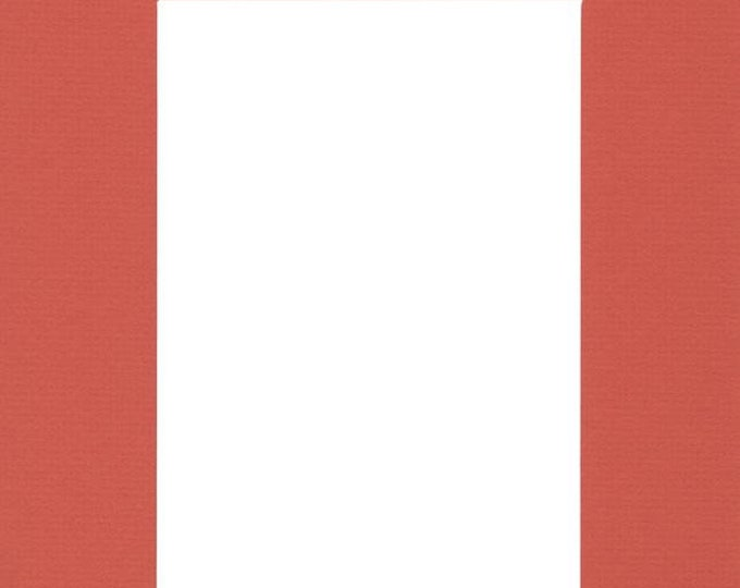 Pack of (2) 16x20 Acid Free White Core Picture Mats cut for 12x16 Pictures in Orange