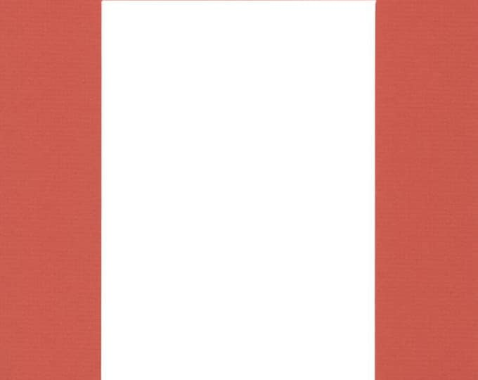 Pack of (2) 20x24 Acid Free White Core Picture Mats cut for 16x20 Pictures in Orange